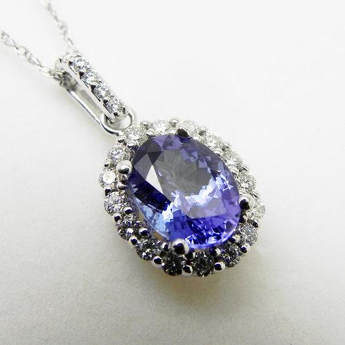 14k Tanzanite and Diamond Pendant