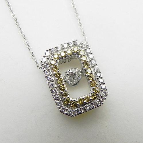 14k Shimmering Diamond Pendant