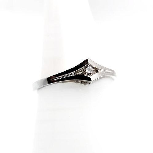 14k .05ct Diamond Engagement Ring
