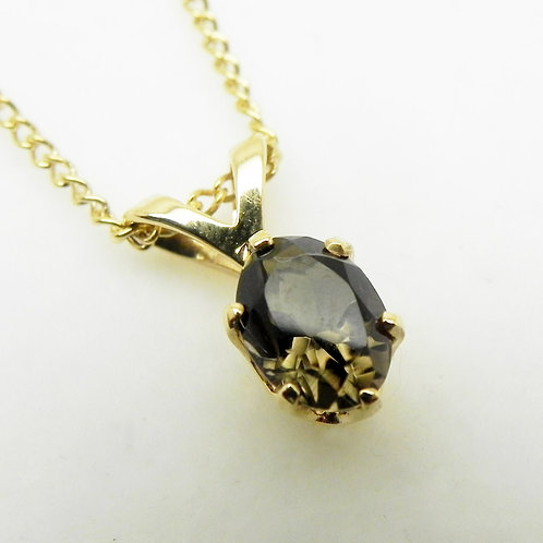 14k Smoky Quartz Pendant