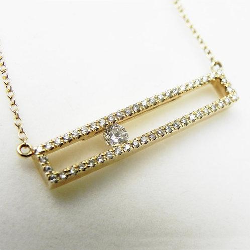 14k Open-Bar Diamond Necklace