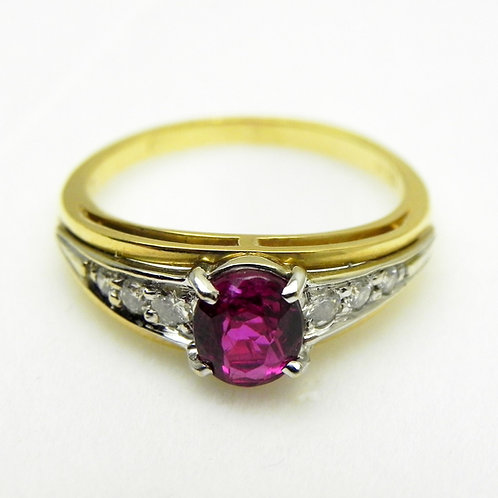 18k Ruby & Diamond Ring [ESTATE]