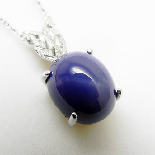 14k Blue Star Sapphire Pendant