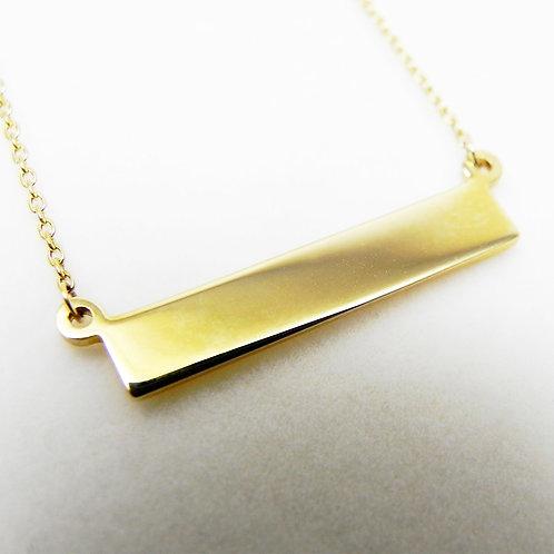 14k Petite Bar Necklace