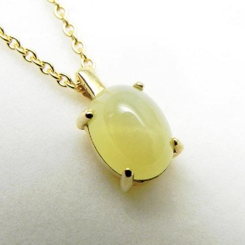 14k Lemon Star Sapphire Pendant
