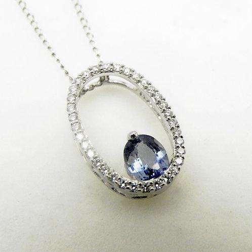 14k Indigo Sapphire Pendant