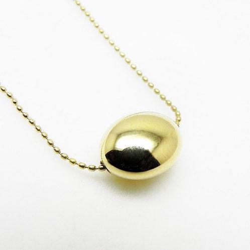 14k Gold Bean Pendant