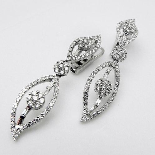 18k Diamond Drop Earrings [ESTATE]