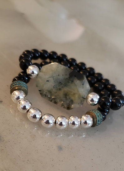 Onyx and Peridot Stack