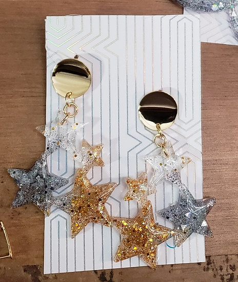 Star Resin Earrings