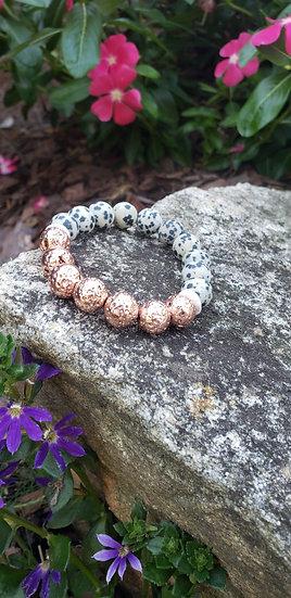 Rose Gold Dalmatian Bracelet