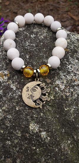 Sandstone Sun and Moon Bracelet