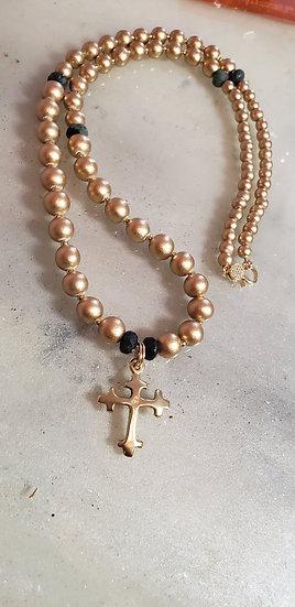 Cross Emerald Necklace