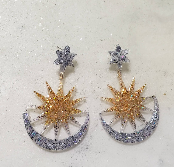 Sunburst Resin Earrings
