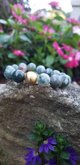 Green Agate Simplicity Bracelet