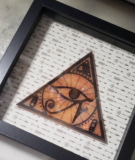 Framed Eye of Ra Resin Art