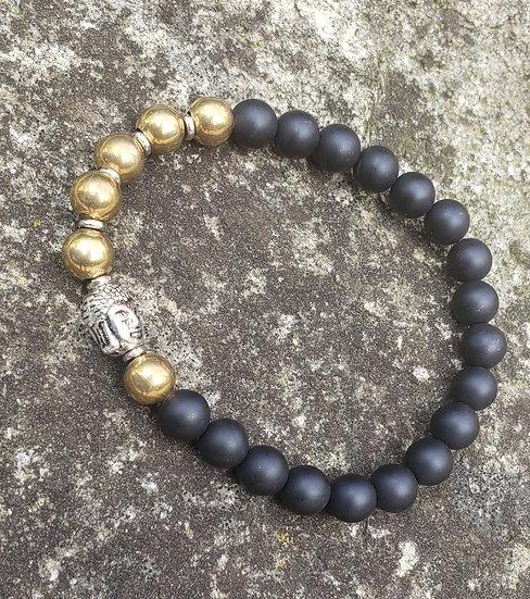 Onyx and Brass Bracelet
