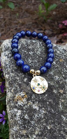 Lapis Lazuli Starburst Bracelet