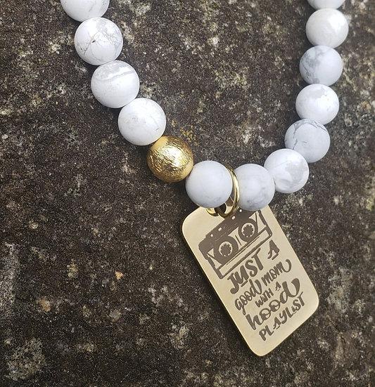 Howlite Trap Music Bracelet