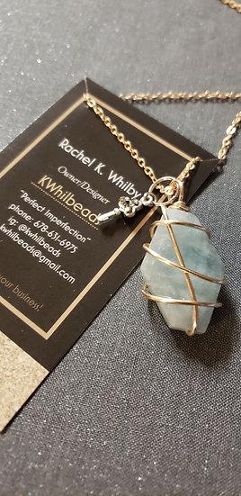 Aquamarine Mini Wire-Wrapped Pendant