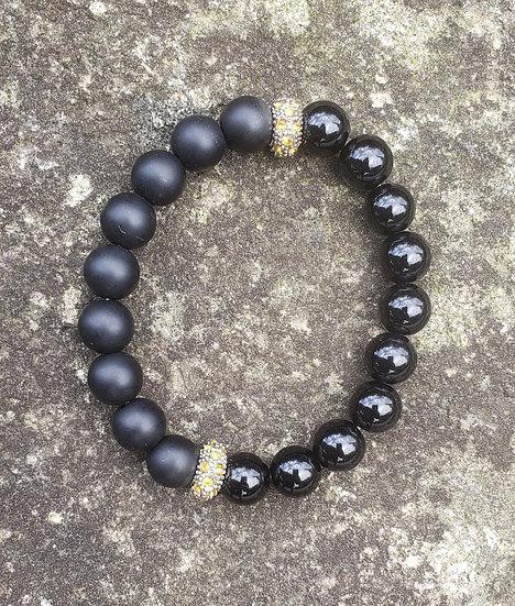 Onyx Two-Time Bracelet
