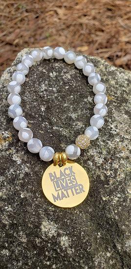 Agate Black Lives Matter Bracelet