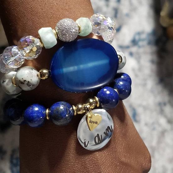 Lapis I AM Bracelet