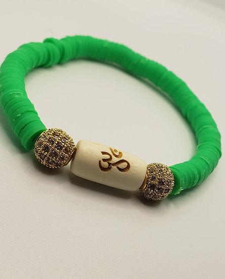 Green Om Bracelet