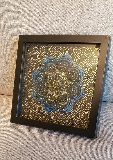 Framed Resin Mandala Art