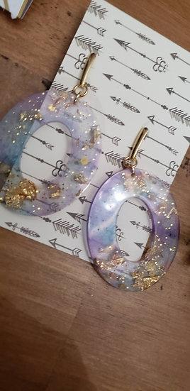 Oval Resin Earrings