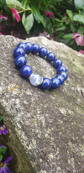 Lapis Lazuli Agate Bracelet