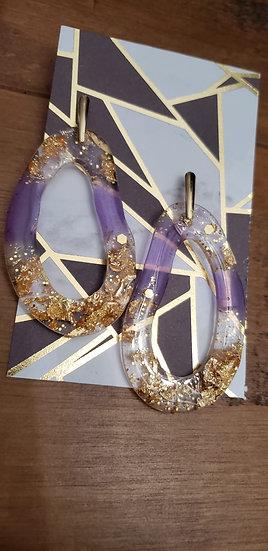 Wavy Resin Earrings