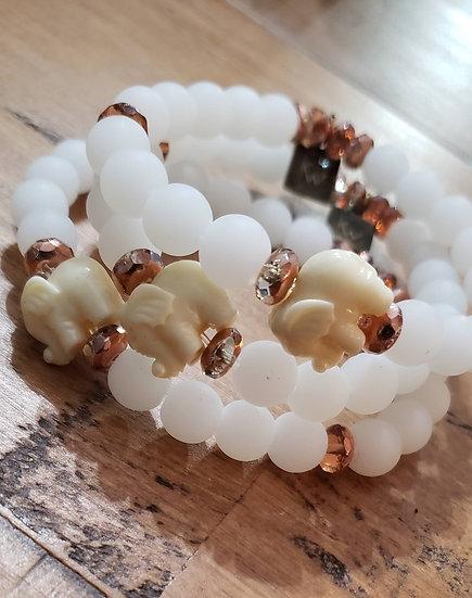 White Elephant Bracelet