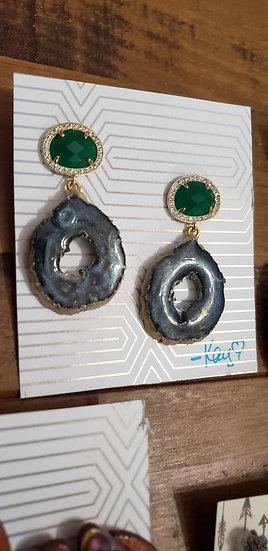 Geode Resin Earrings
