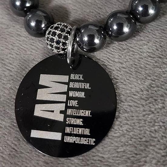Hematite I AM Bracelet