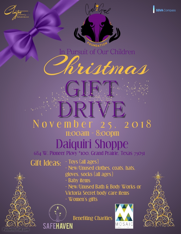 Gift Drive flyer