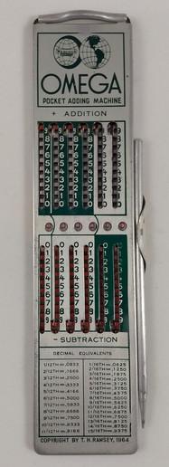 Omega Pocket Adding Machine