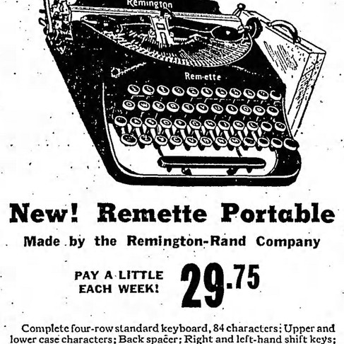 The Remington Remette: A History via Newspapers Ads