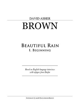 Beautiful Rain, 1st Movement