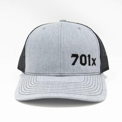 Adjustable Snapback Trucker Cap - Heather Grey/Black