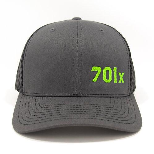 Adjustable Snapback Trucker Cap - Charcoal/Black