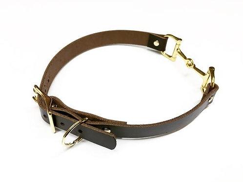 Leather Horse Bit Dog Collar