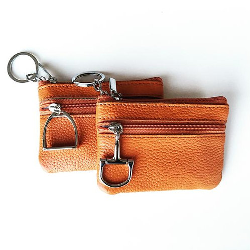 Leather Coin Purse and Key Chain