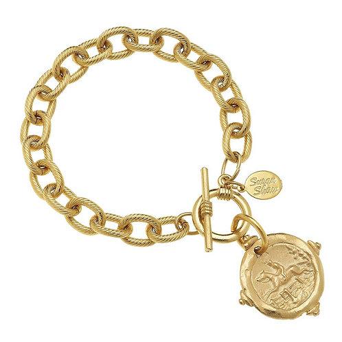 Gold Equestrian Intaglio Bracelet