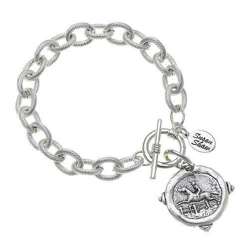 Silver Equestrian Intagilo Bracelet