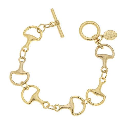 Gold Horse Bit Bracelet