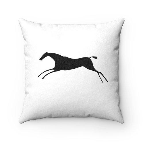 H & H Faux Suede Square Pillow