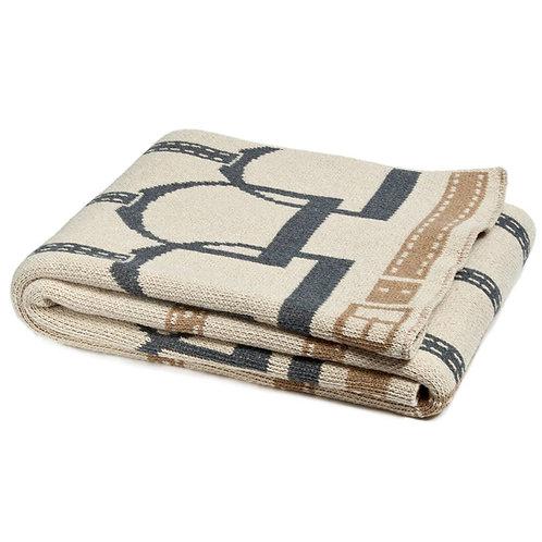 Equestrian Stirrup Throw Blanket
