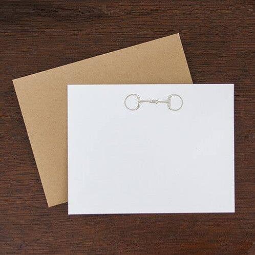 Horse Snaffle Flat Note Stationary Set