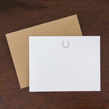 Horse Shoe Flat Note Stationery Set